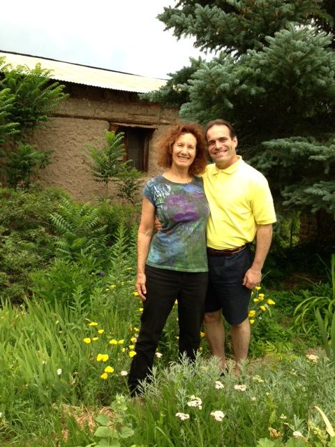 Marie and Howard in Garden